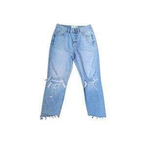 Garage Light Wash Distressed Mom Jeans Size 5